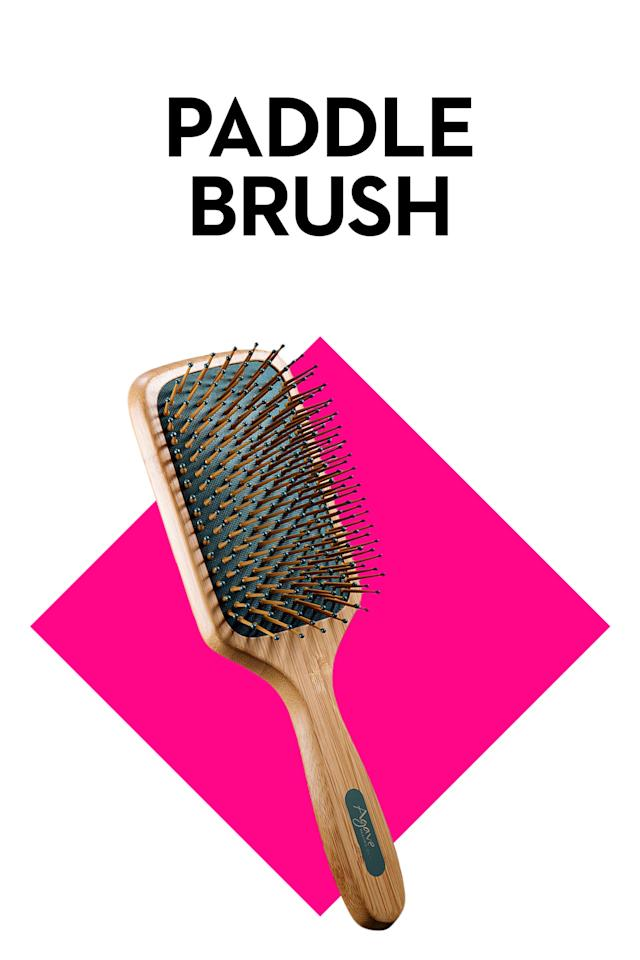 """<p><em>Shown: Agave Natural Paddle Brush Smooth & Shine (<a rel=""""nofollow"""" href=""""http://www.sephora.com/agave-healing-oil-natural-bamboo-paddle-brush-smooth-shine-P388110?skuId=1629443"""">$25, sephora.com</a>)</em></p><p>Got tons of tangles? This is a good pick for you. """"A paddle brush is great for detangling really <a rel=""""nofollow"""" href=""""http://www.goodhousekeeping.com/beauty/hair/a35182/hairy-women-body-hair-struggles/"""">thick, wet hair</a>,"""" says Toth, who advises starting with the ends of the hair and working your way up to the roots.</p>"""
