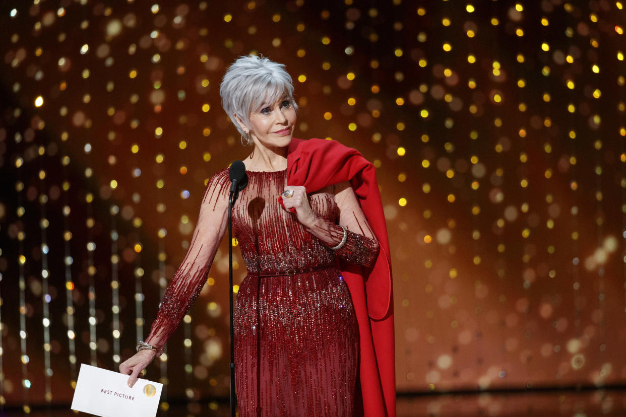 THE OSCARS® - The 92nd Oscars® broadcasts live on Sunday, Feb. 9,2020 at the Dolby Theatre® at Hollywood & Highland Center® in Hollywood and will be televised live on The ABC Television Network at 8:00 p.m. EST/5:00 p.m. PST.  (CRAIG SJODIN via Getty Images) JANE FONDA