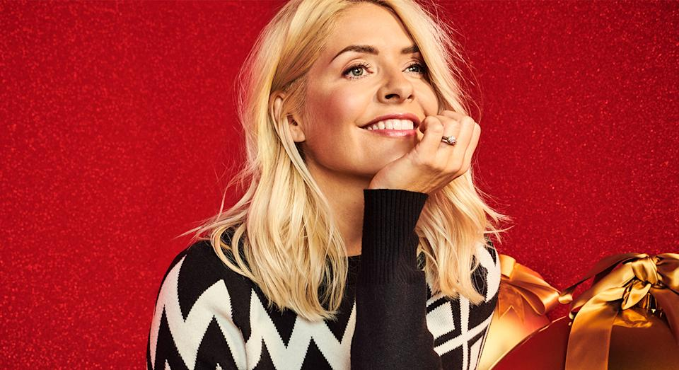 Holly Willoughby's dresses in her new edit with Marks and Spencer are on sale. (Marks and Spencer)