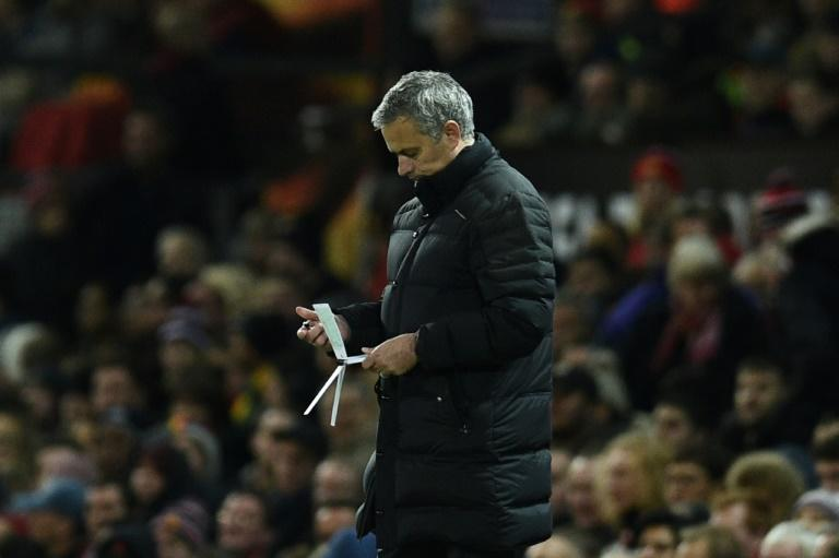 """Manchester United manager Jose Mourinho was recently given a £50,000 fine by England's governing Football Association for putting """"an additional layer of pressure"""" on referee Anthony Taylor before a goalless draw against Liverpool at Anfield"""