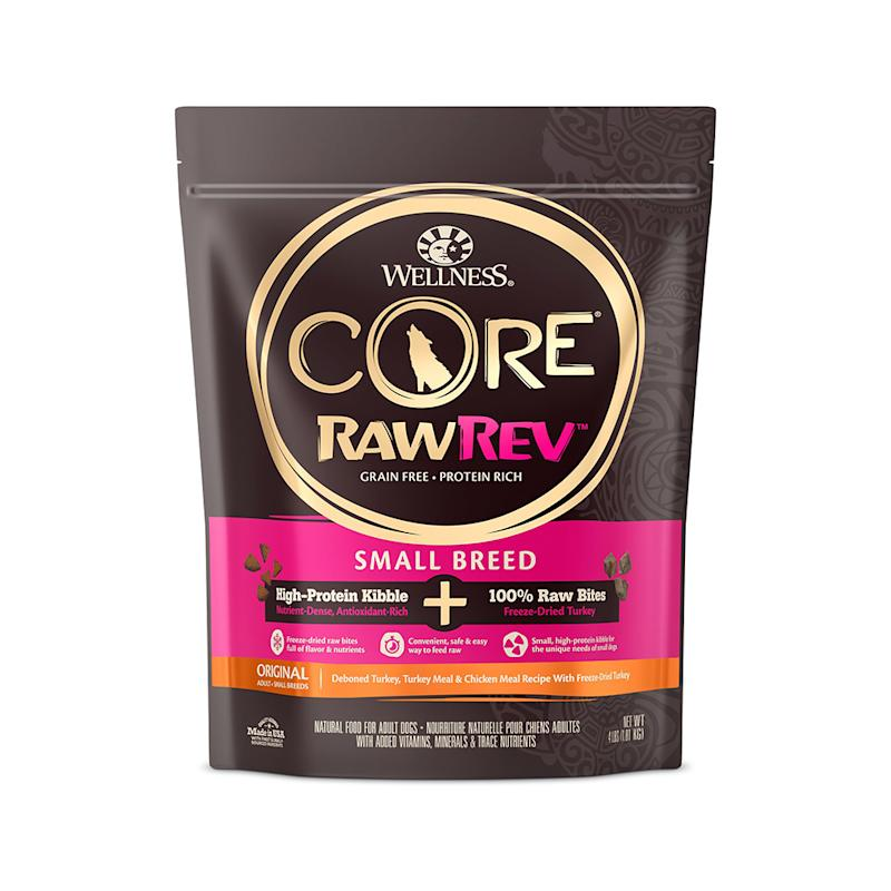 Wellness CORE RawRev Grain-Free Small Breed Original Recipe with Freeze Dried Turkey. (Photo: Chewy)