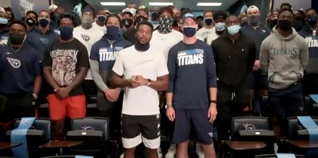 No football talk as Titans safety sticks to racial injustice