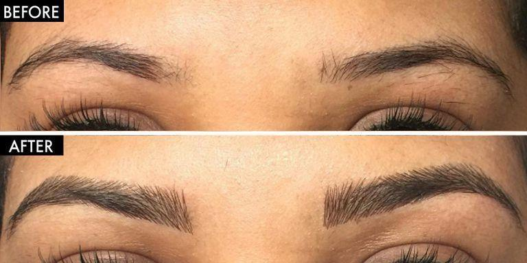 569f93842d0 Forget Microblading, Eyebrow Extensions Are the Most Realistic Way to Fake Fuller  Brows