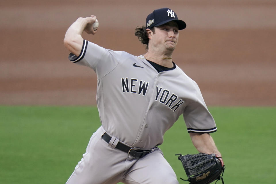 New York Yankees pitcher Gerrit Cole