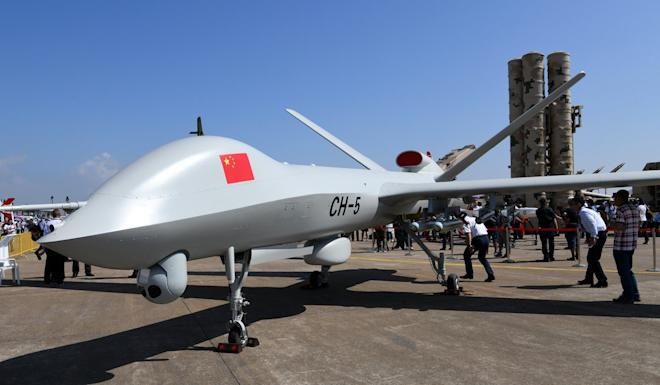 Chinese companies dominate the civilian drone market, while the Rainbow military drone is exported to many overseas customers. Photo: Xinhua