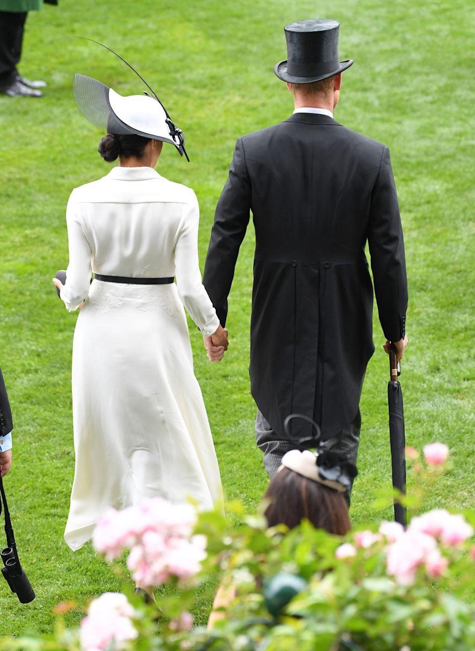 <p>When aren't these two holding hands? Shortly after their wedding, the couple appeared to be enjoying the 'honeymoon' phase of their relationship, June 2018. </p>