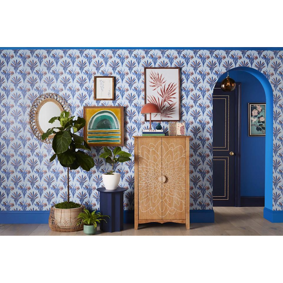 """<p>How cool is this <product href=""""https://www.walmart.com/ip/Carved-Wood-Storage-Cabinet-By-Drew-Barrymore-Flower-Home/623373507"""" target=""""_blank"""" class=""""ga-track"""" data-ga-category=""""internal click"""" data-ga-label=""""https://www.walmart.com/ip/Carved-Wood-Storage-Cabinet-By-Drew-Barrymore-Flower-Home/623373507"""" data-ga-action=""""body text link"""">Drew Barrymore Flower Home Carved Wood Storage Cabinet</product> ($299)?</p>"""