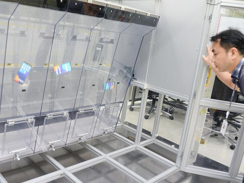 Other tests include continuous drop tests, heat exposure tests, and continuous charge and discharge tests. Image source: LG.