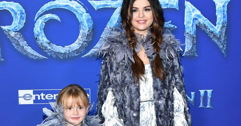 Twins! Selena Gomez and Her Little Sister Gracie Wear Matching Outfits at the Frozen 2 Premiere