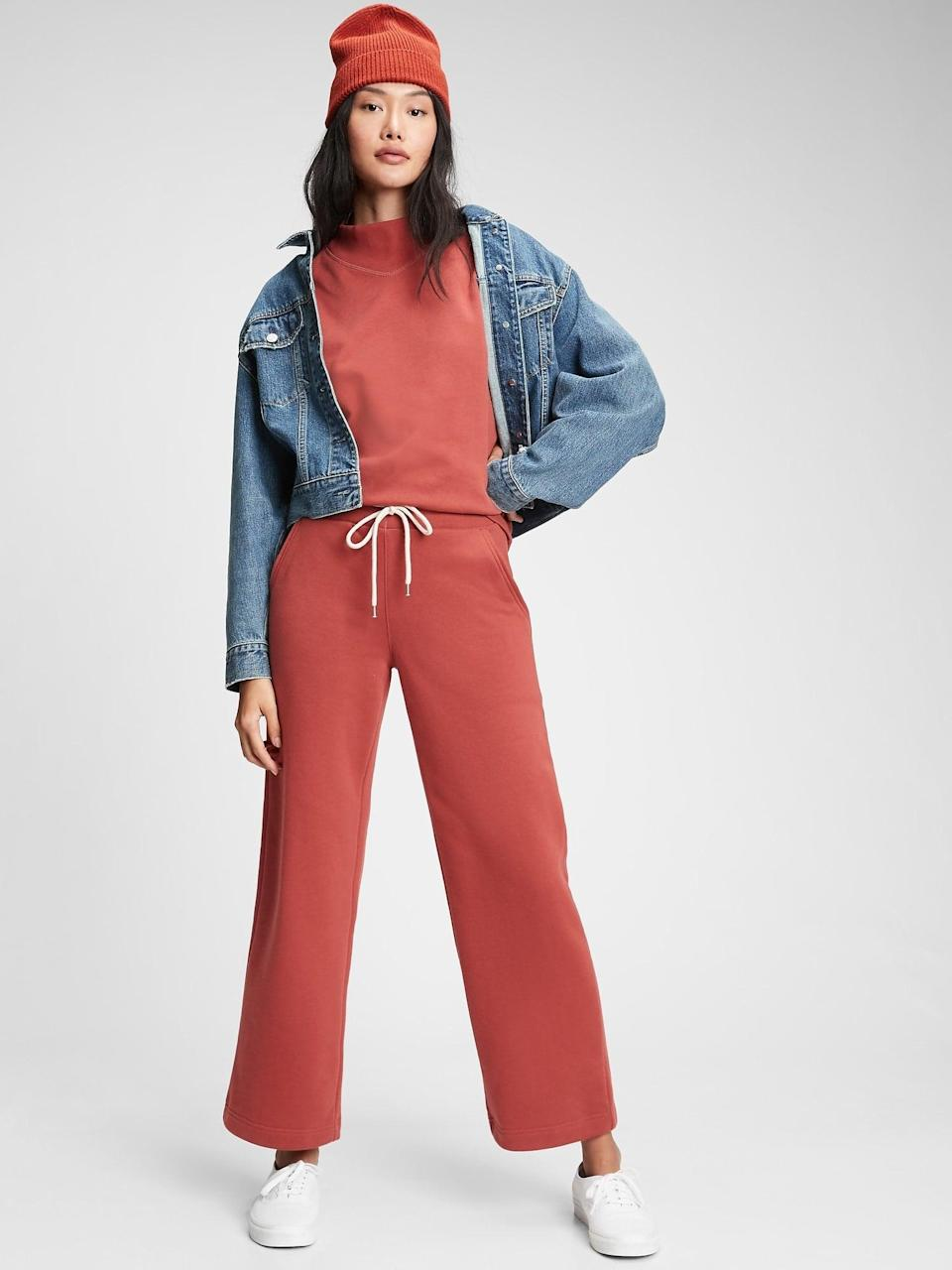 <p>Brighten up your loungewear with these flowy <span>Straight-Leg Sweatpants</span> ($44, originally $50).</p>