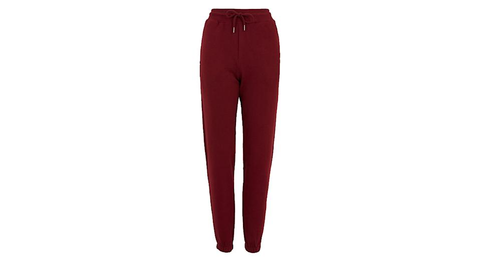 Cotton Brushed Tapered Ankle Grazer Joggers