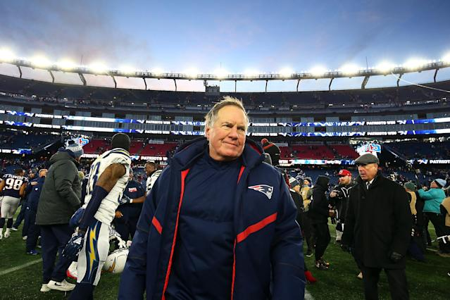 Today marks the 19th anniversary of the New England Patriots hiring head coach Bill Belichick. (Photo by Adam Glanzman/Getty Images)