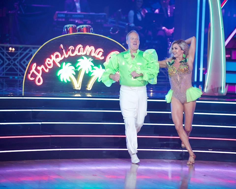 <p>Sean Spicer wasn't holding back when he made his ballroom debut on this season of <em>DWTS</em>, rocking a neon green cha-cha shirt and bright white pants. But, apparently, some audience members weren't so happy with the former White House Press Secretary and made it clear by booing him during his performance. </p>