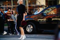 <p>Yet another inconvienant footwear trend (especially as we come into the winter time) is white boots. However, Paris Fashion Week was filled with them, and as they were worn by the likes of Karlie Kloss and Kendall Jenner we can't really argue. <em>[Photo: Katz Sinding]</em> </p>