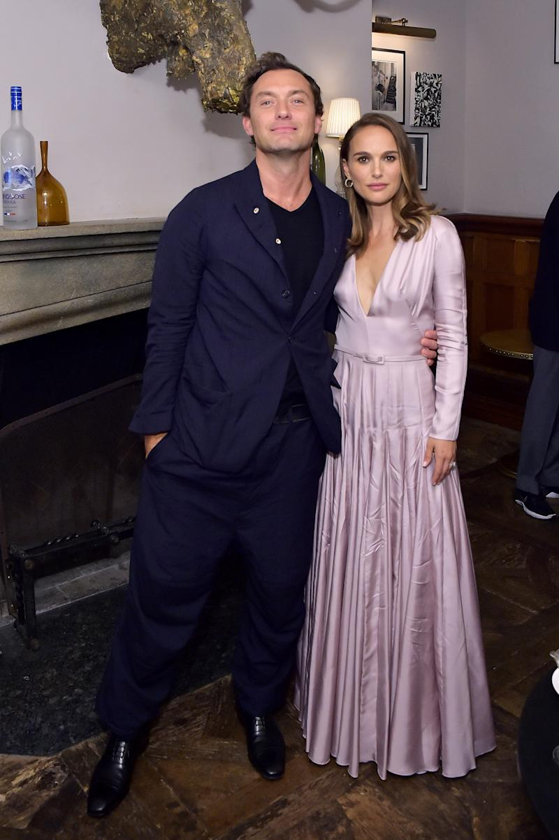 Jude Law and Natalie Portman at the VOX LUX premiere party hosted by GREY GOOSE Vodka and Soho House at Soho House Toronto on September 7, 2018, in Toronto, Canada.