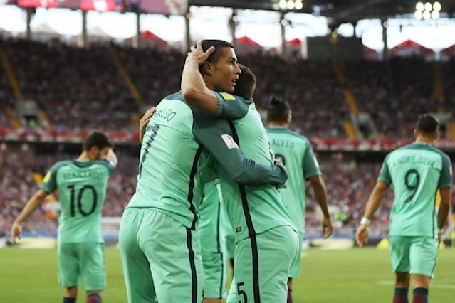 "Will <a class=""link rapid-noclick-resp"" href=""/soccer/players/cristiano-ronaldo/"" data-ylk=""slk:Cristiano Ronaldo"">Cristiano Ronaldo</a> and Portugal be lifting a trophy for the second summer in a row? (Getty)"
