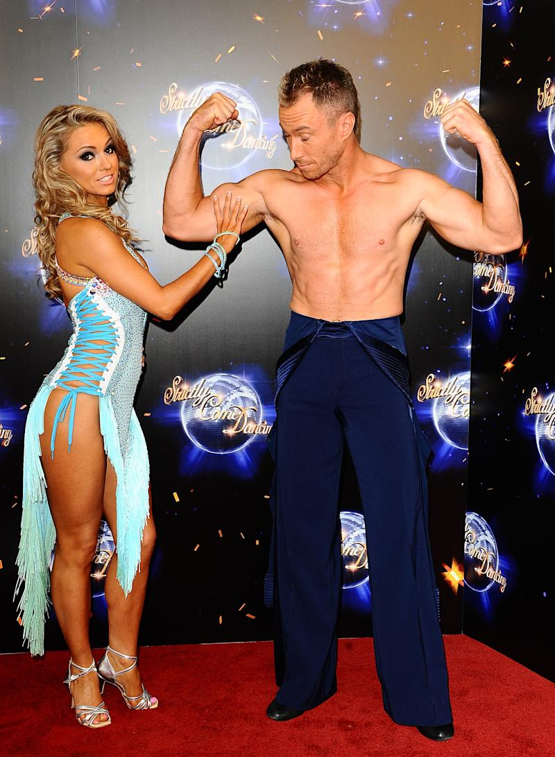 Ola and James Jordan during the the launch show for Strictly Come Dancing at BBC Television Centre, Wood Lane, White City.
