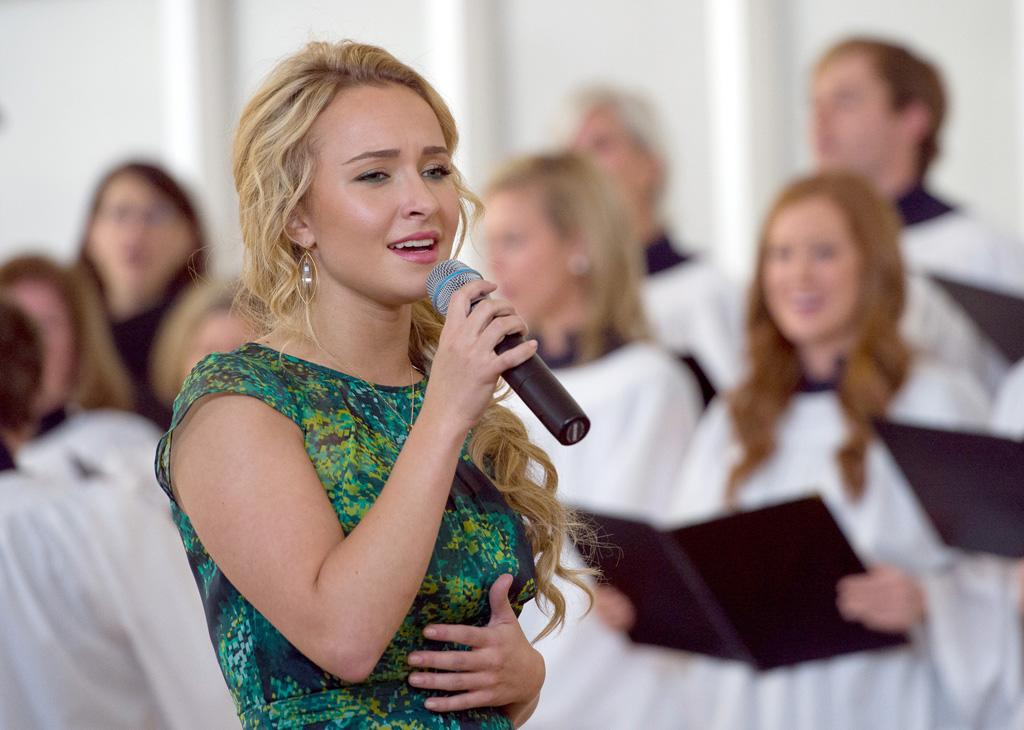 "Hayden Panettiere in the ""Nashville"" episode, ""Where He Leads Me."""