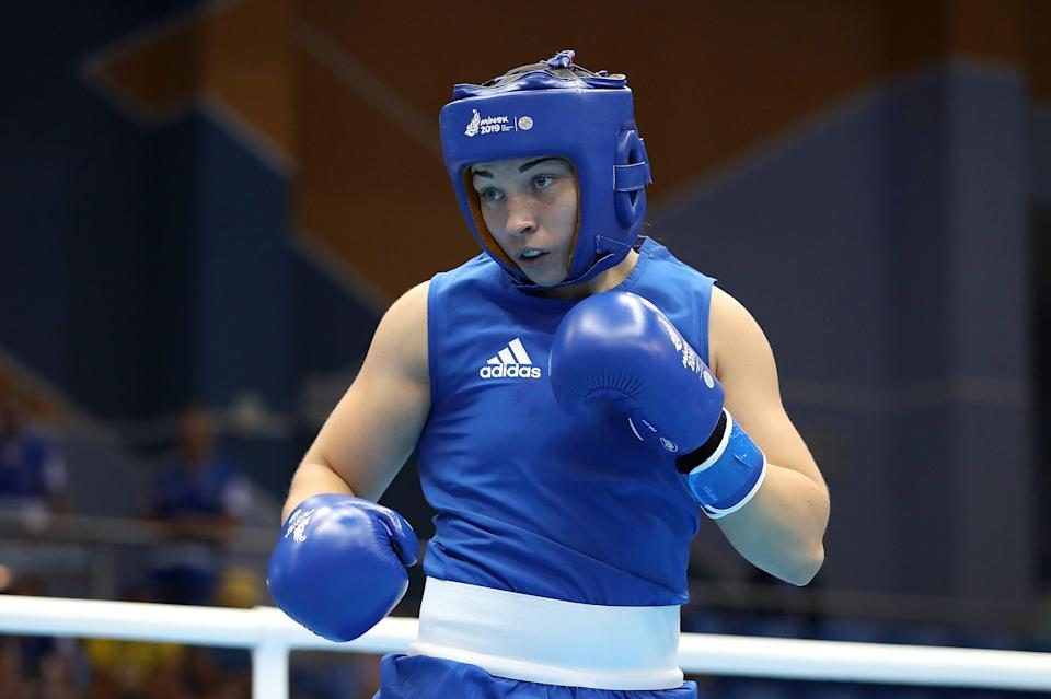 Middleweight Lauren Price won gold at the 2019 European Games in Minsk (Martin Rickett/PA) (PA Archive)