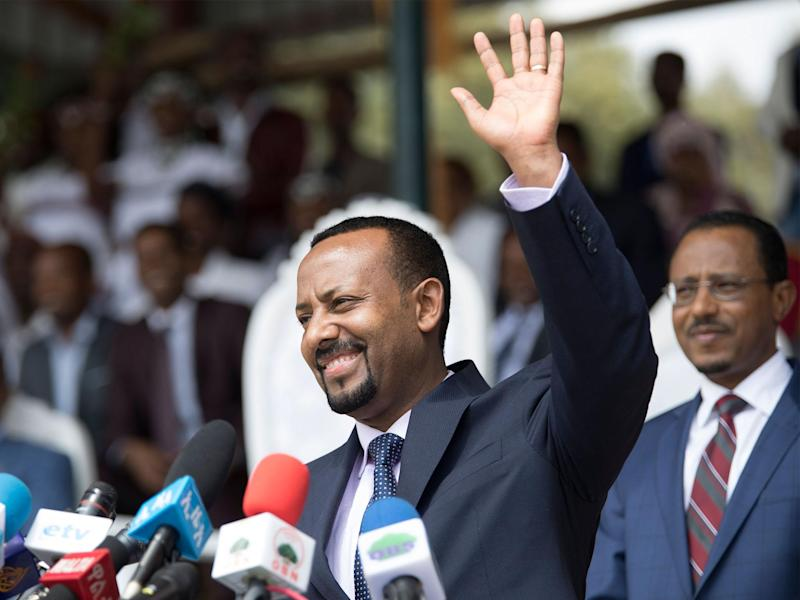 Ethiopian prime minister Abiy Ahmed has called for an end to the stalemate with Eritrea: ZACHARIAS ABUBEKER/AFP/Getty Images