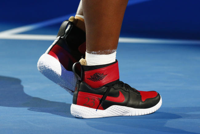 Serena Williams was presented with a letter and custom Air Jordans ... fdce62d1f0f3