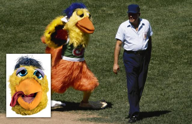 You can buy the San Diego Chicken's head at an auction running right now. (AP/Goldin Auctions)