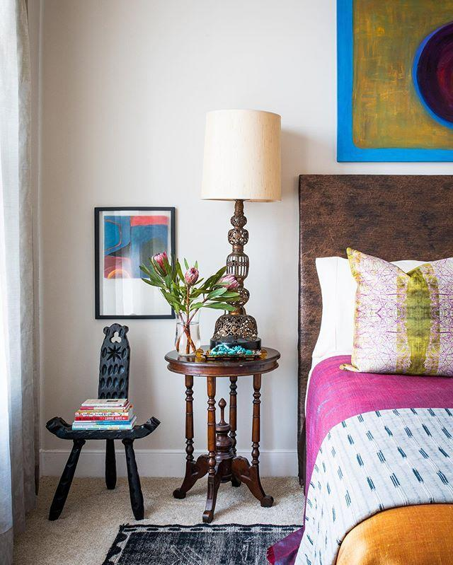 """<p>If you like your interiors richly layered with lots of texture, Kiyonda Powell's account will be a visual feast. The Washington, D.C.-based designer has mastered the art of mixing shapes, patterns, and patinas (often by incorporating elements from around the globe) for spaces that are full of discovery. </p><p><a href=""""https://www.instagram.com/p/B8hAFToJ83s/"""" rel=""""nofollow noopener"""" target=""""_blank"""" data-ylk=""""slk:See the original post on Instagram"""" class=""""link rapid-noclick-resp"""">See the original post on Instagram</a></p>"""