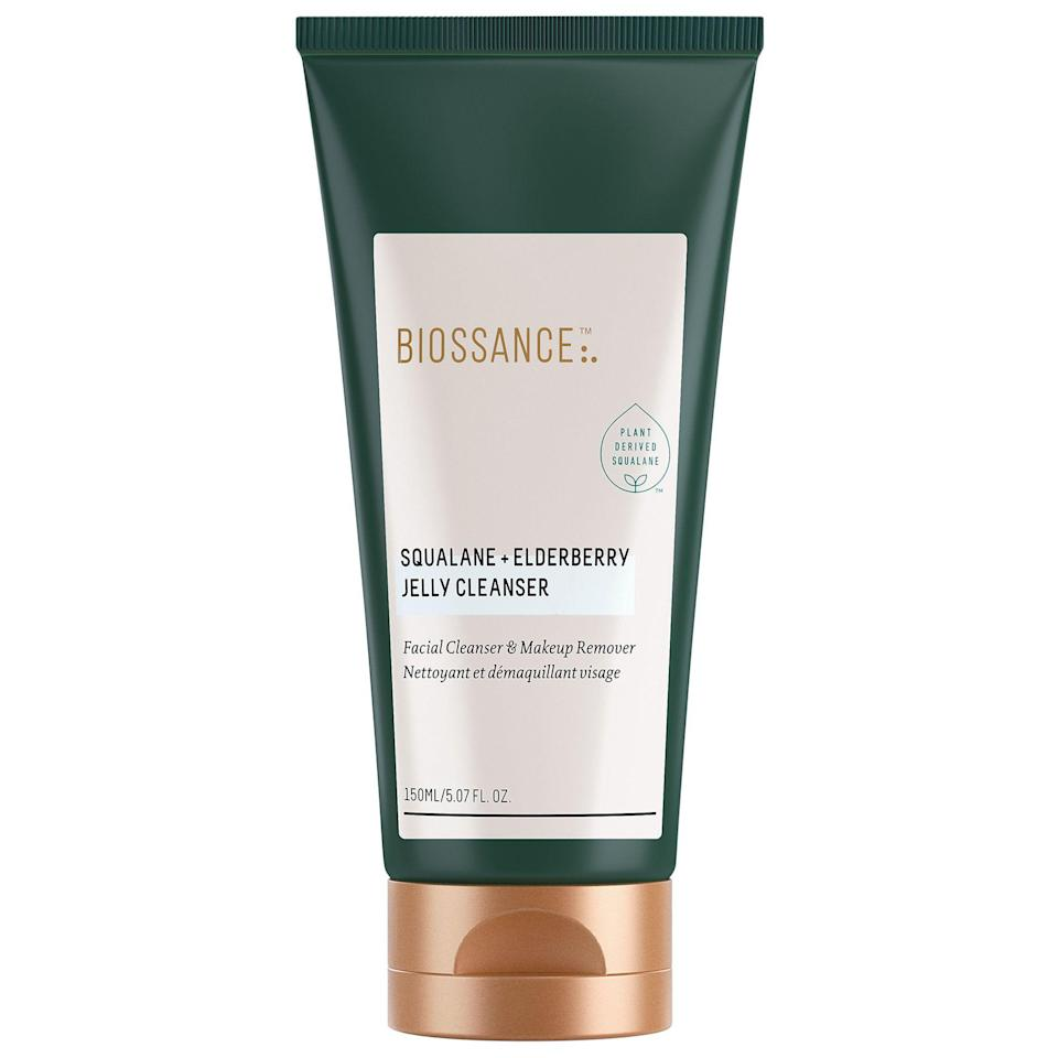 "<p><strong>Biossance</strong></p><p>sephora.com</p><p><strong>$28.00</strong></p><p><a href=""https://go.redirectingat.com?id=74968X1596630&url=https%3A%2F%2Fwww.sephora.com%2Fproduct%2Fbiossance-squalane-elderberry-jelly-cleanser-P462829&sref=https%3A%2F%2Fwww.thepioneerwoman.com%2Fbeauty%2Fskin-makeup-nails%2Fg34418496%2Fbest-facial-cleanser%2F"" rel=""nofollow noopener"" target=""_blank"" data-ylk=""slk:Shop Now"" class=""link rapid-noclick-resp"">Shop Now</a></p><p>This cleanser works double duty as a facial cleanser and a makeup remover so you can cut down on those steps in your skincare routine. Even waterproof makeup doesn't stand a chance. </p>"