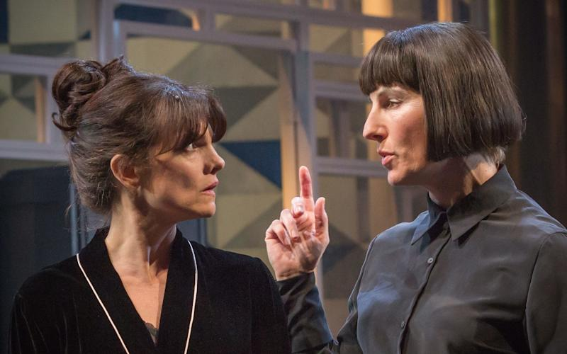 Tamsin Greig appears in the National Theatre's production of Twelfth Night - Credit: Marc Brenner
