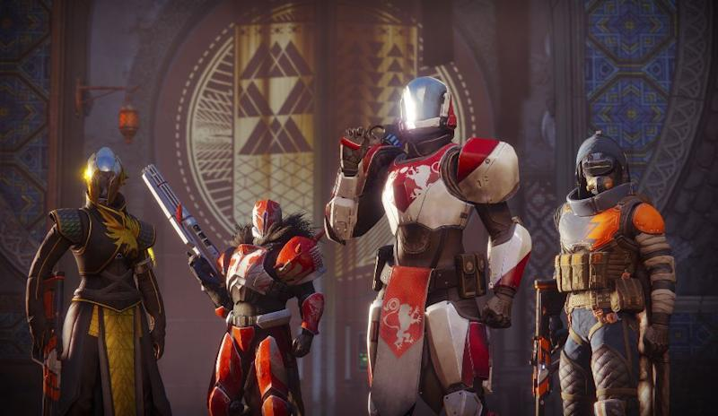 A heroic shot of Guardians going into Destiny 2's Crucible.