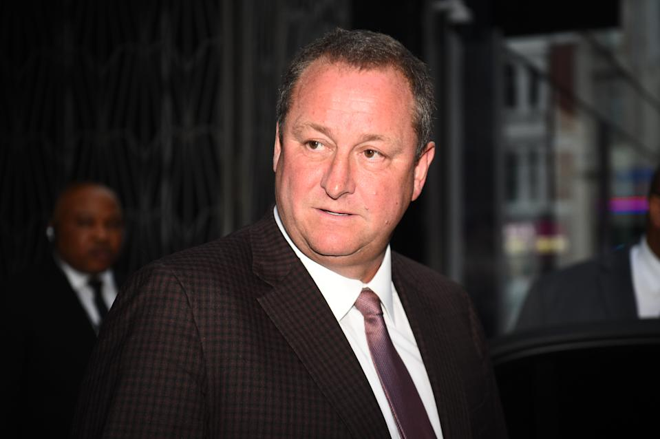 In February, Mike Ashley estimated that the impact of the coronavirus pandemic would lead to a £100m write down in the value of its properties and other assets. Photo: Kirsty O'Connor/PA via Getty