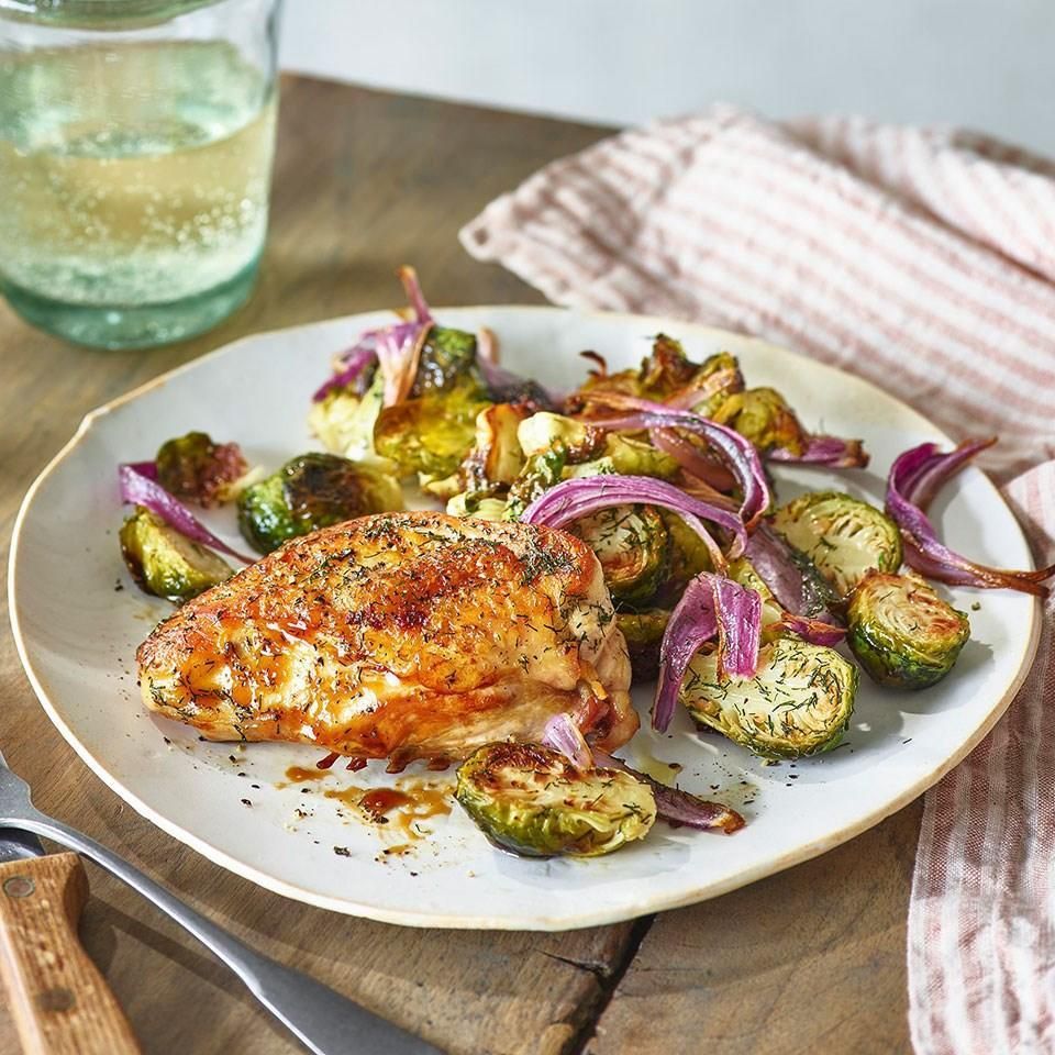 <p>A strong vinegar, like malt or sherry, gives this baked chicken recipe a pucker factor reminiscent of salt-and-vinegar chips. Everything cooks on one pan, making this chicken sheet-pan dinner perfect for weeknights when you want big results for little effort (so, pretty much every weeknight!).</p>
