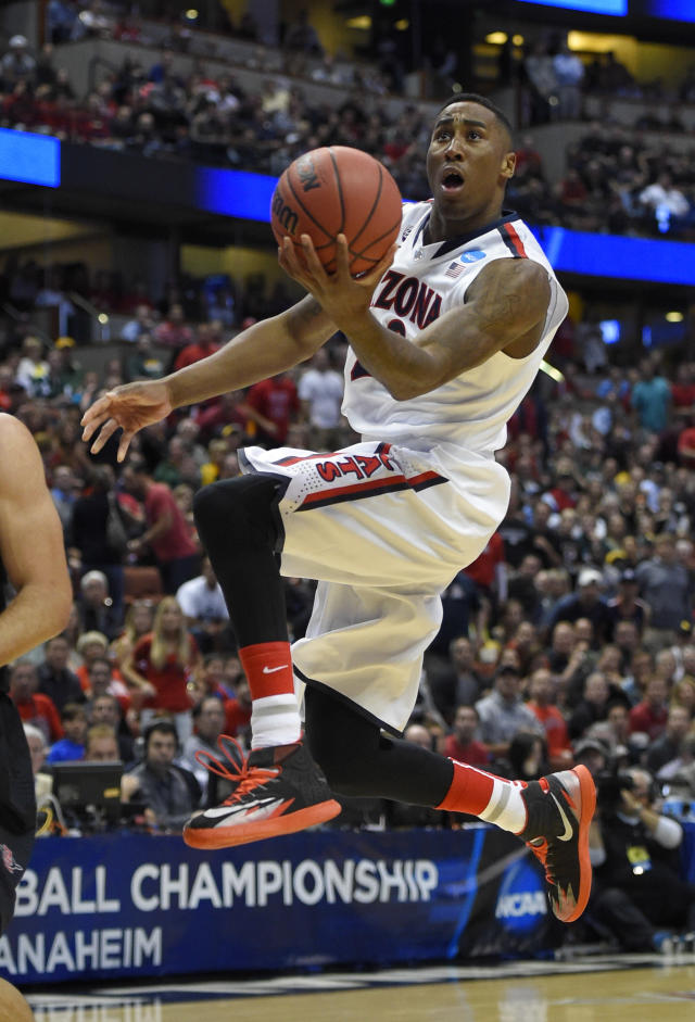 Arizona forward Rondae Hollis-Jefferson drives during the first half against San Diego State in an NCAA men's college basketball tournament regional semifinal, Thursday, March 27, 2014, in Anaheim, Calif. (AP Photo/Mark J. Terrill)