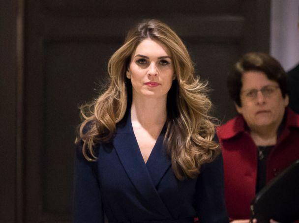 PHOTO: White House Communications Director Hope Hicks, one of President Trump's closest aides and advisers, arrives to meet behind closed doors with the House Intelligence Committee, at the Capitol in Washington, Feb. 27, 2018. (J. Scott Applewhite/AP, FILE)