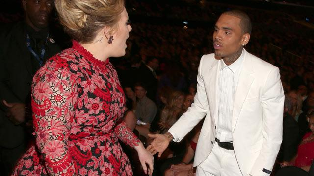 Adele Denies Chris Brown Showdown