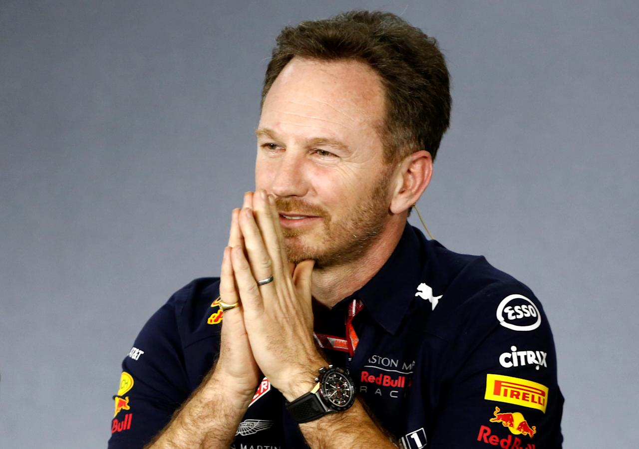 Formula One F1 - Australian Grand Prix - Melbourne Grand Prix Circuit, Melbourne, Australia - March 23, 2018  Red Bull Team Principal Christian Horner during the press conference  REUTERS/Brandon Malone