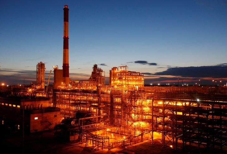 A general view shows the Taneco refinery complex, which is part of Russia's oil producer Tatneft group of companies, in Nizhnekamsk