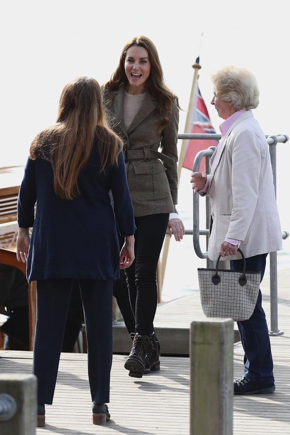 The Duchess of Cambridge visits Lake Windermere (Scott Heppell/PA)