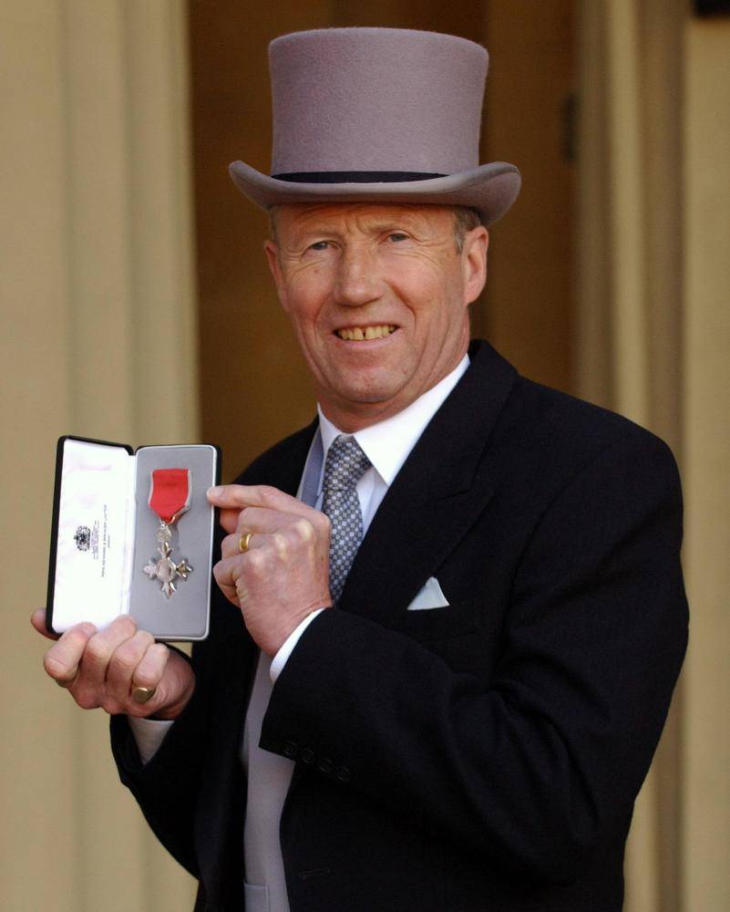 Colin Bell was awarded an MBE in 2005.