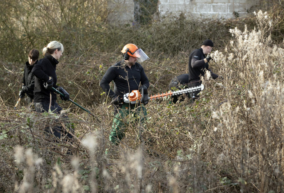 Police cut back undergrowth near Oak Road playing fields in Hull, a 24-year-old man arrested in connection with the disappearance of university student Libby Squire has been remanded in custody after appearing in court charged with unrelated offences. Pawel Relowicz, of Raglan Street, Hull, appeared at Hull Magistrates' Court accused of voyeurism, outraging public decency and burglary.