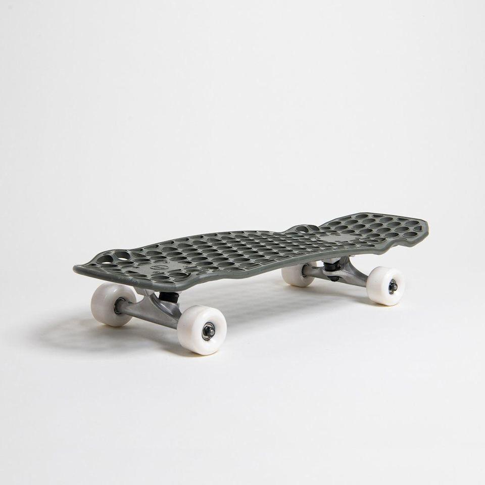 """<p><strong>Lander</strong></p><p>lander.la</p><p><strong>$149.00</strong></p><p><a href=""""https://lander.la/products/skateboard"""" rel=""""nofollow noopener"""" target=""""_blank"""" data-ylk=""""slk:Shop Now"""" class=""""link rapid-noclick-resp"""">Shop Now</a></p><p>This board is made of recycled materials and, let's face it, just looks cool as hell.</p>"""