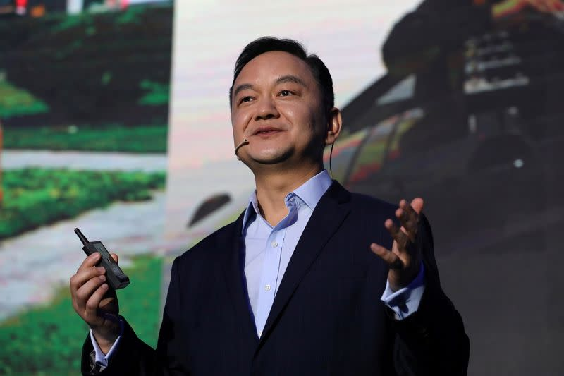 FILE PHOTO: James Peng, founder and CEO of autonomous driving technology startup Pony.ai, attends an event in Beijing