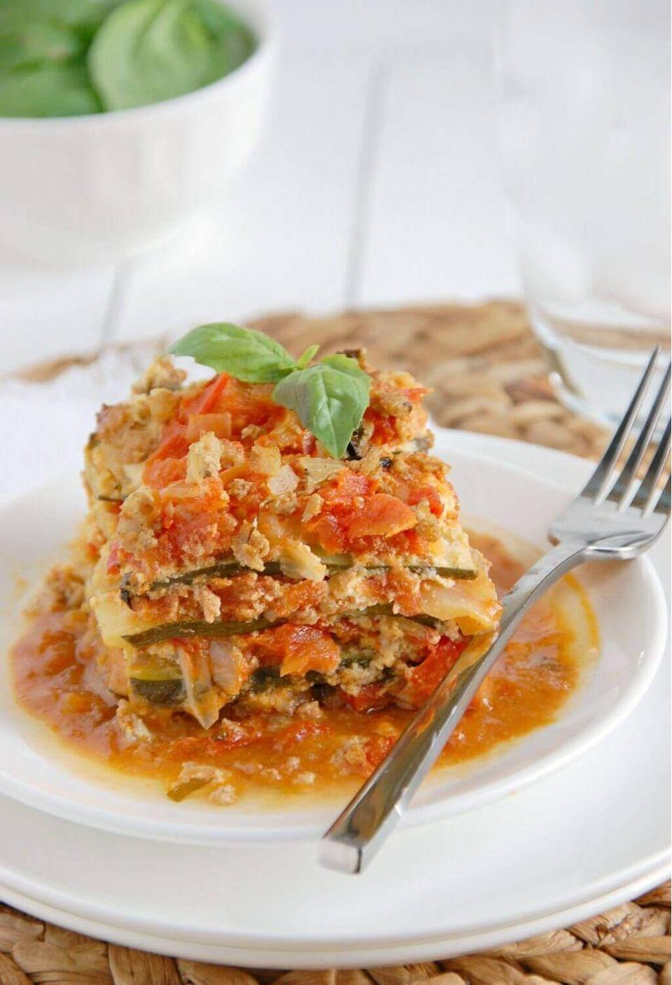 """<p>This ain't your grandma's lasagna.</p><p>Get the recipe from <a href=""""https://www.mynaturalfamily.com/recipes/paleo-recipes/paleo-crock-pot-lasagna-recipe/"""" rel=""""nofollow noopener"""" target=""""_blank"""" data-ylk=""""slk:My Natural Family"""" class=""""link rapid-noclick-resp"""">My Natural Family</a>.</p>"""