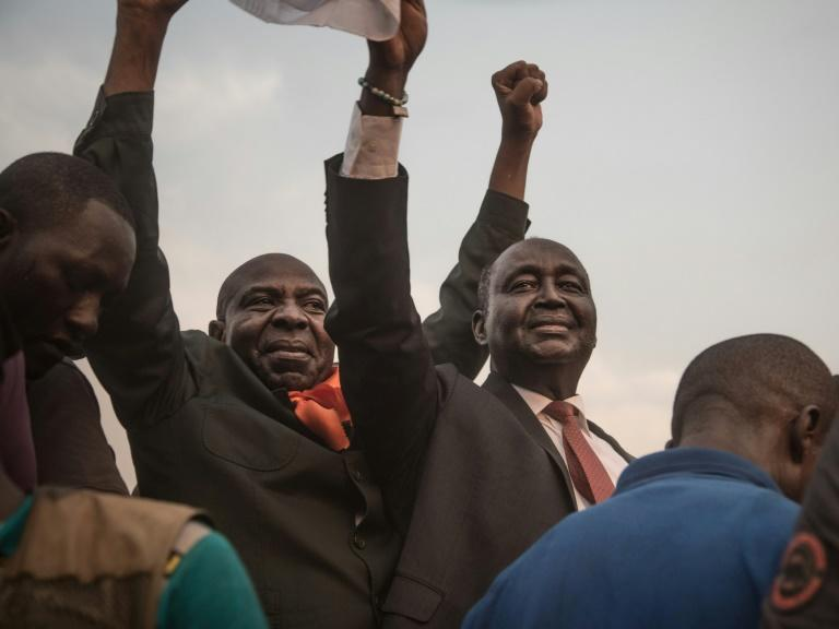 Francois Bozize, right, is under an international arrest warrant for his role in the conflict
