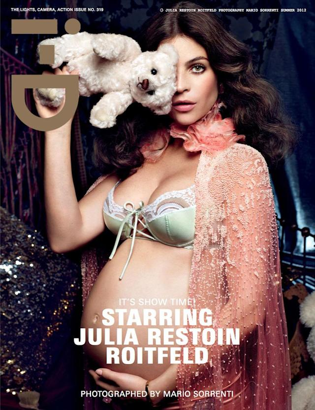 <p>Julia Restoin Roitfeld on the cover of <em>i-D</em>, 2012 </p>