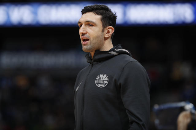 "<a class=""link rapid-noclick-resp"" href=""/nba/players/3745/"" data-ylk=""slk:Zaza Pachulia"">Zaza Pachulia</a> won two NBA titles with the <a class=""link rapid-noclick-resp"" href=""/nba/teams/gsw"" data-ylk=""slk:Warriors"">Warriors</a>. (AP)"