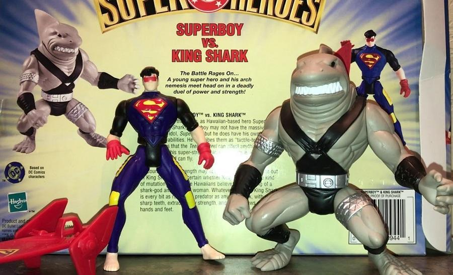 The Superboy and King Shark action figure two pack from back in the '90s.