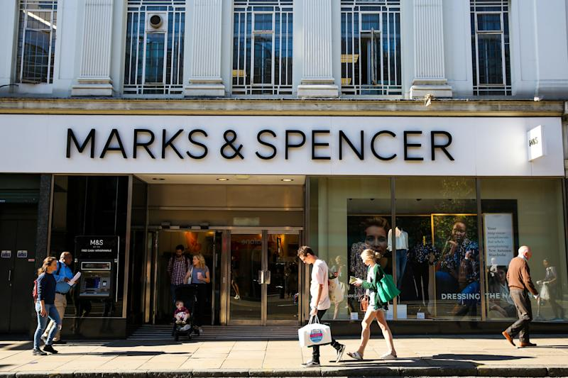 LONDON, UNITED KINGDOM - 2019/09/21: An exterior view of Marks & Spencer in central London. (Photo by Dinendra Haria/SOPA Images/LightRocket via Getty Images)