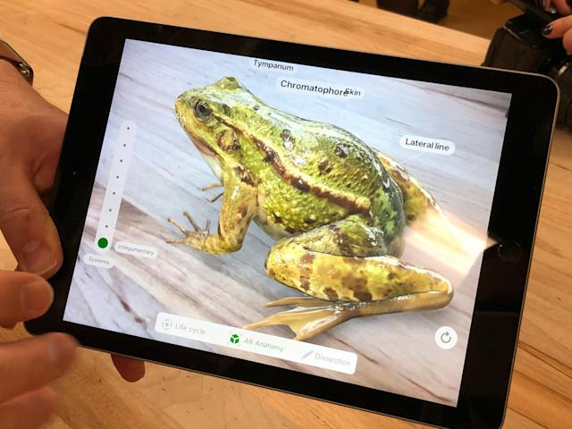 The iPad's augmented reality capabilities make it a formidable competitor for Google's low-cost Chromebooks.