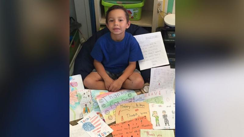 First Grader's Thanksgiving Project Results in 500 Cards, Care Packages for Troops